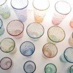 滋賀の和食器セレクトショップflatto(フラット)に納品したイロアミグラス